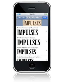 WhatTheFont for iPhone