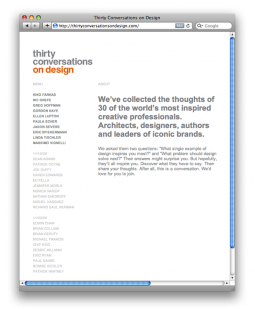 Thirty Conversations on Design