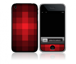 Red Pixelate: iPhone Adhesive Design