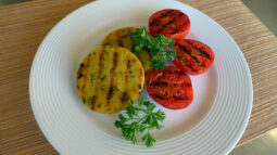 Herb and Sun Dried Tomato Polenta with Grilled Tomatoes