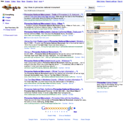 Site Image Hover in Google Search Results