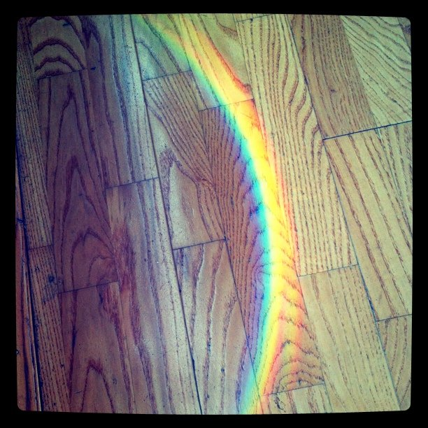 rainbow on the floor