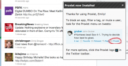 Proxlet: Filter out Twitter Noise