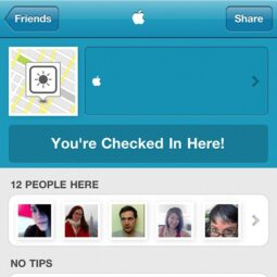checkin to the apple logo in a city near you. a foursquare tribute to