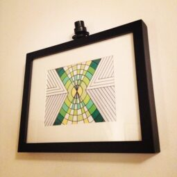 x variation framed drawing http://artcodes.com