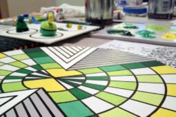Green X Circle Painting In Progress