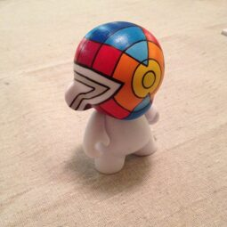 x munny with black lines