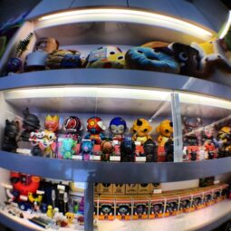 fisheye @kidrobot @kidrobotsf with my @artcodes x superhero munny in the middle