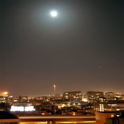 supermoon from the 11th floor, soma, sf