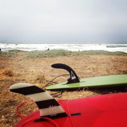 winds weren't too bad at lm! nice surf with @maxkiesler