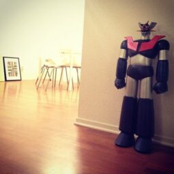 our 3.5 foot mazinger z from super7 cc @mochipark @donttalkaboutdust