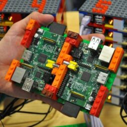Supercomputer built from Raspberry Pis and Lego