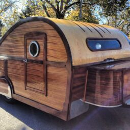 beautiful wood classic trailer
