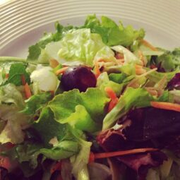 grape and mixed green salad