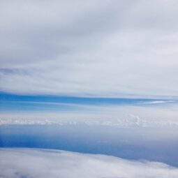 sky at about 40,000 feet