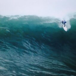 screengrab of @shanedorian in a 40'+ wave at. finals coming up: http://www.mavericksinvitational.com