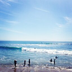 start of the swell