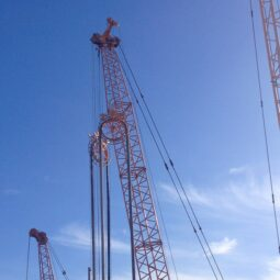 cranes and pulleys