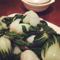 roasted garlic baby bok choy