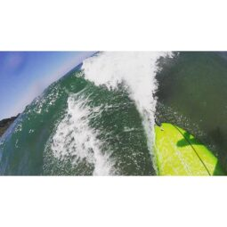 tail of my board taking off on a wave: a view I've never seen