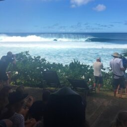 today was a day I'll never forget - watching insane perfect pipe on finals day standing in the @volcom yard at the