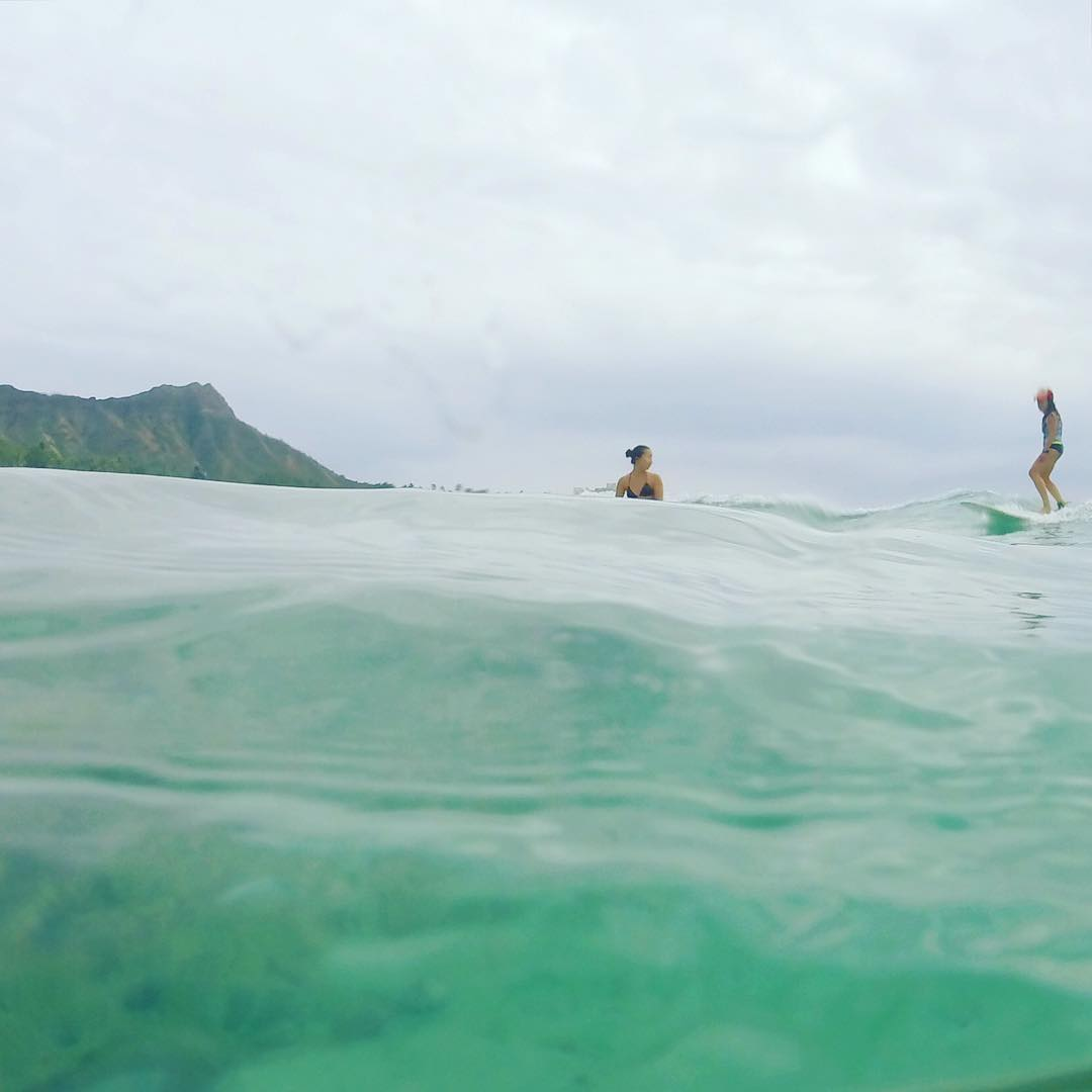 on a tiny wave last saturday in paradise