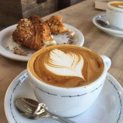 croissants and cappuccinos
