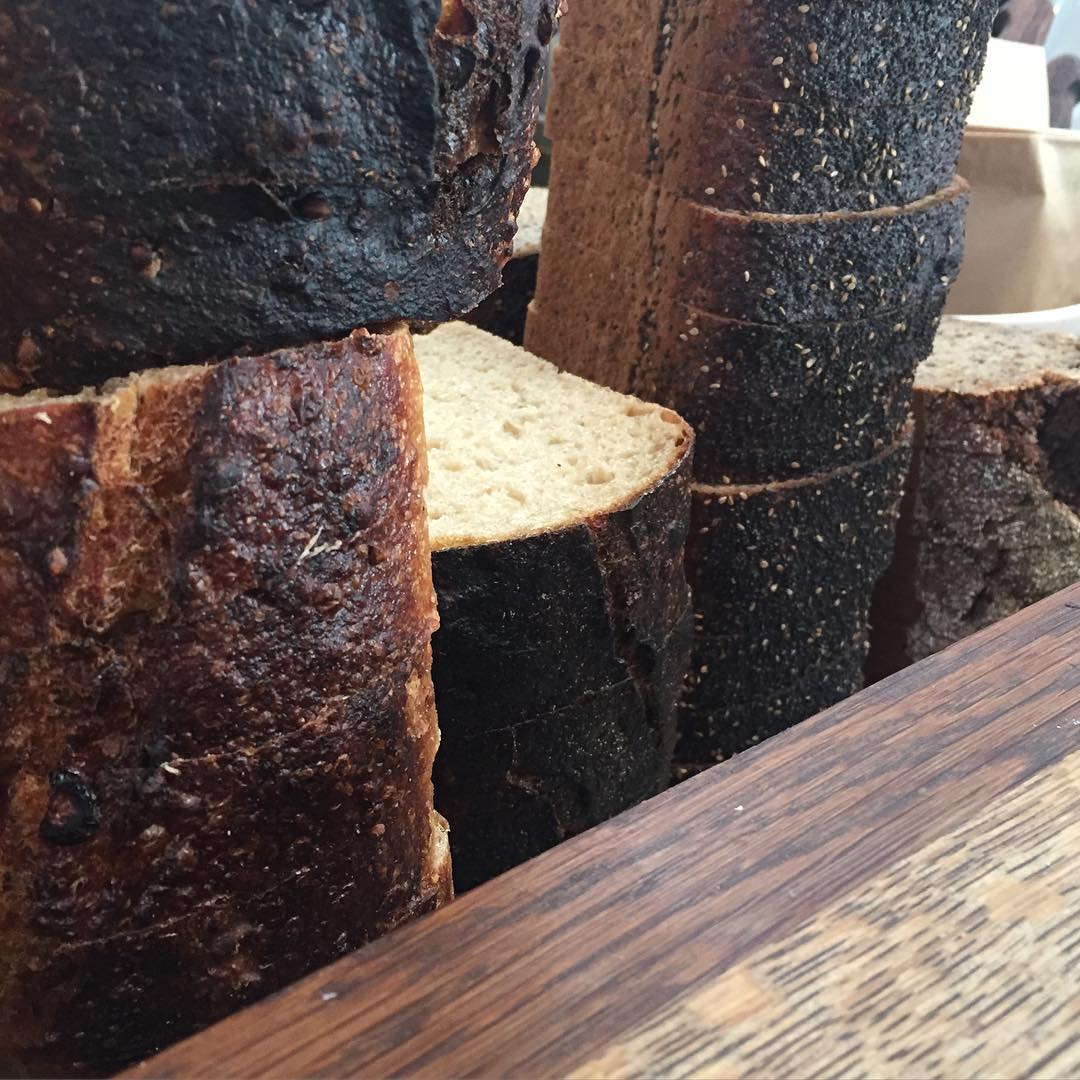 close up bread looking like wood