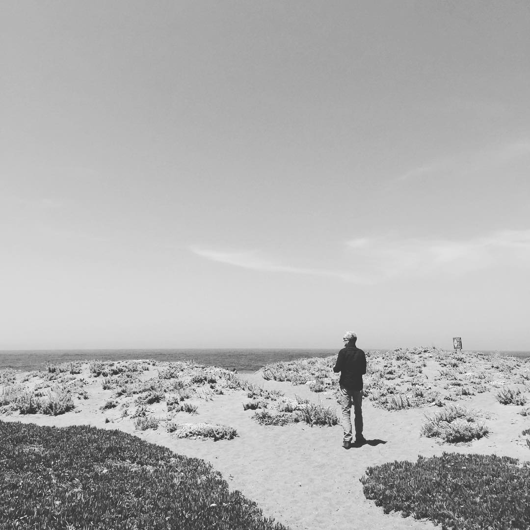 the one and only @maxkiesler exploring the dunes, looking out to sea