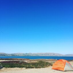 life list item reached: camping in view of the ocean