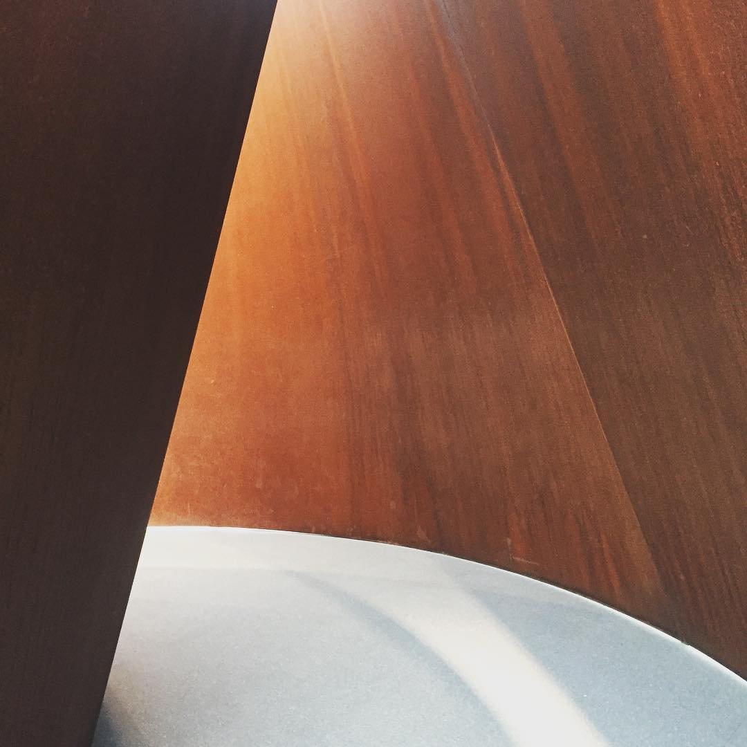 to walk through this richard serra sculpture was intense, a blast from my subconscious past
