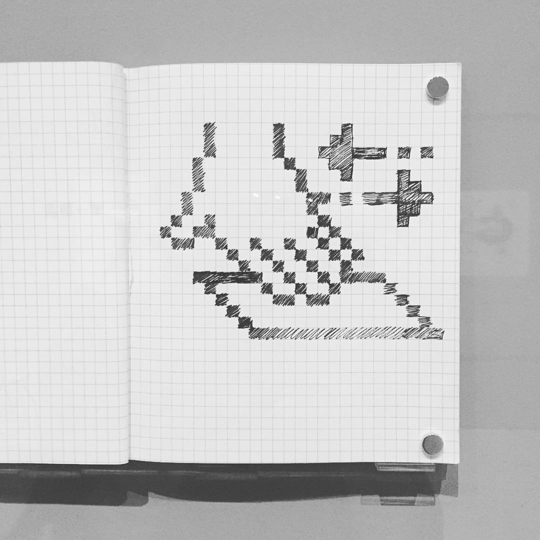 early apple icon from her sketchbook