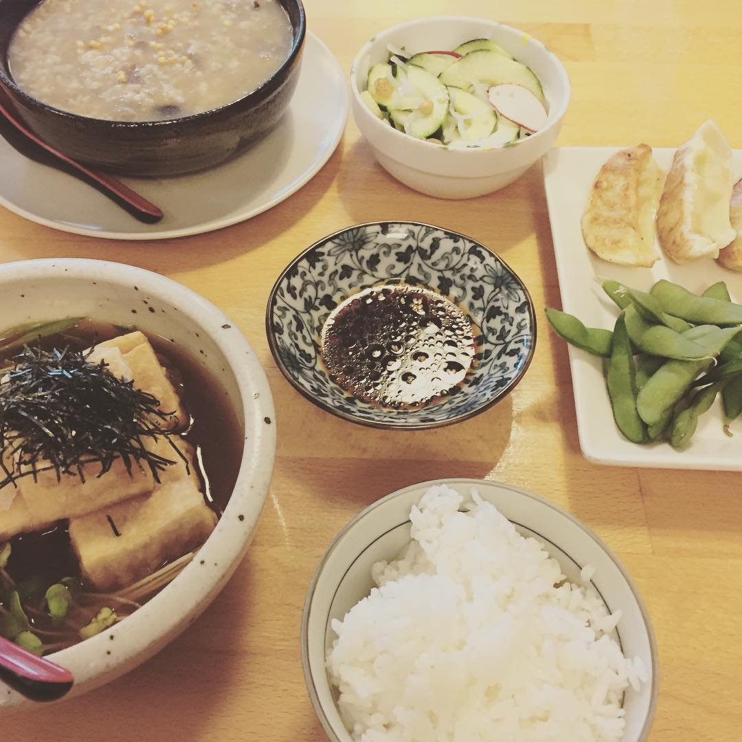vegan japanese feast
