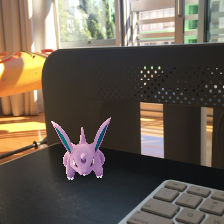 spotted a nidoran on my desk