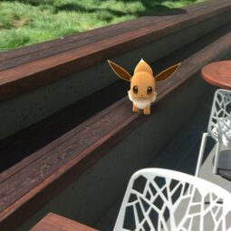 almost had this eevee but the app froze eep