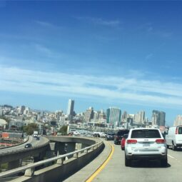 coming back from the beach on friday and onto the 6th st exit into SF. feels like a mini road trip every time