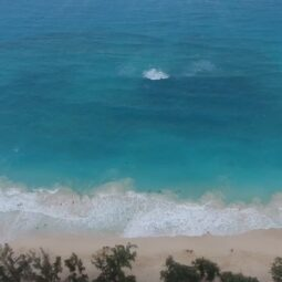 beautiful waimanolo beach from above