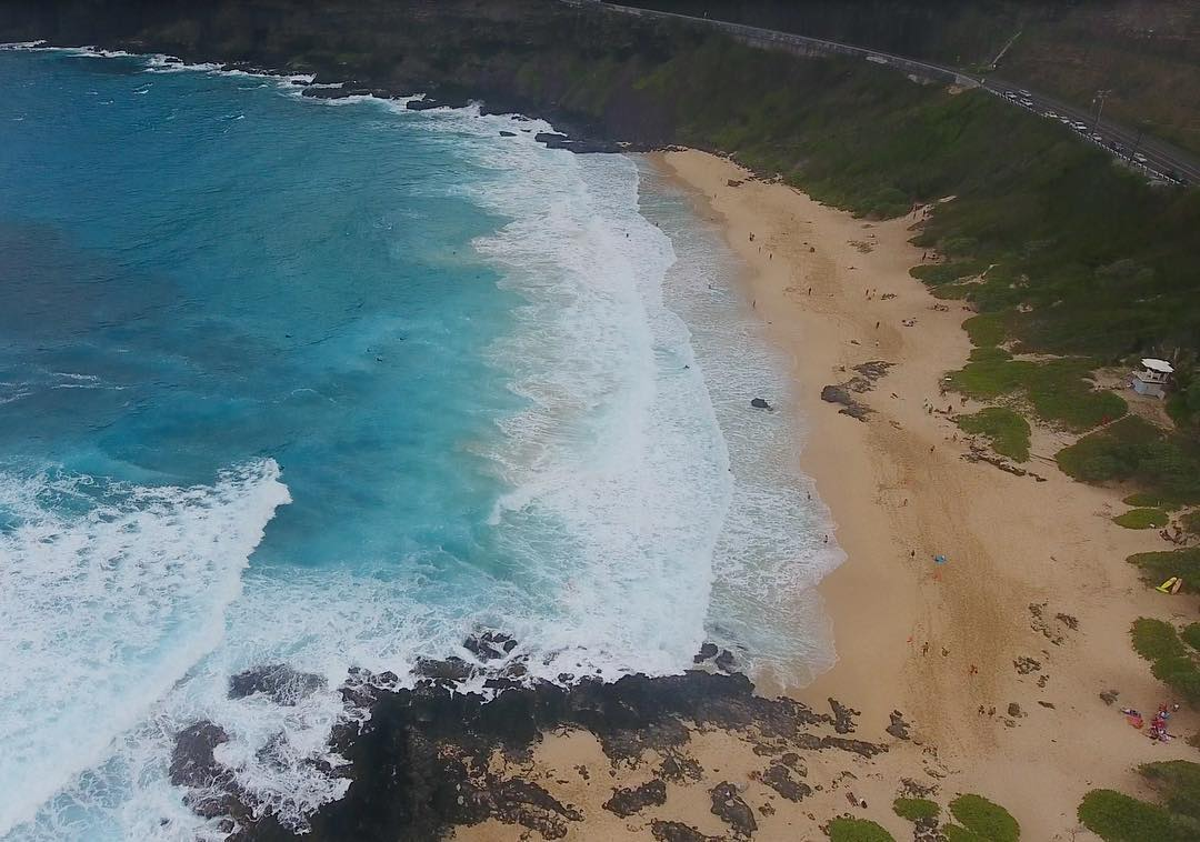 could feel the power of makapu'u beach