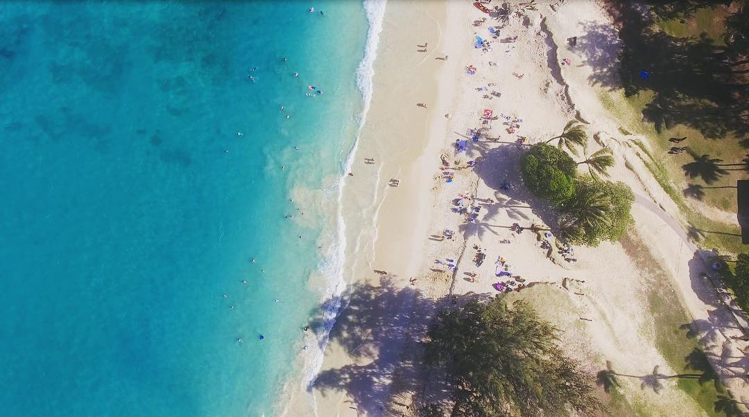 dreamy kailua this afternoon from the sky