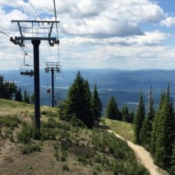 i could ride this chairlift up and down big mountain all day
