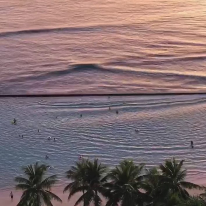 waikiki sunset pastels