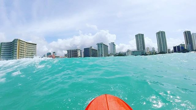my view of waikiki today from the water