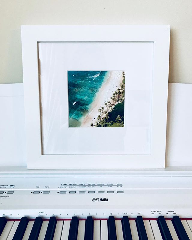 so stoked to see a Waikiki aerial shot on my @djimavicpro this summer and brought to life by @framebridge as a little print in my San Francisco home
