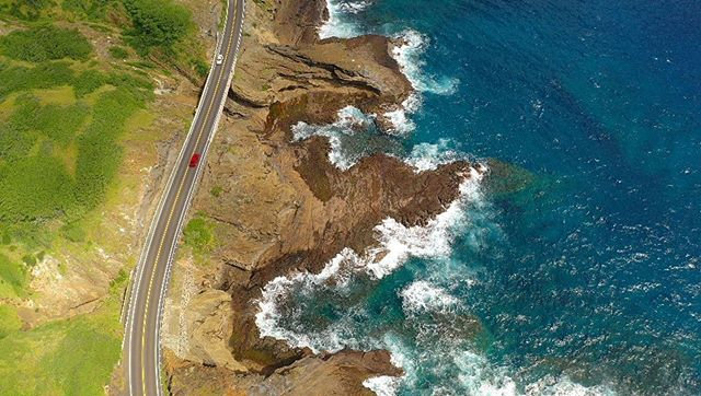kalanianaole highway from 300 ft above