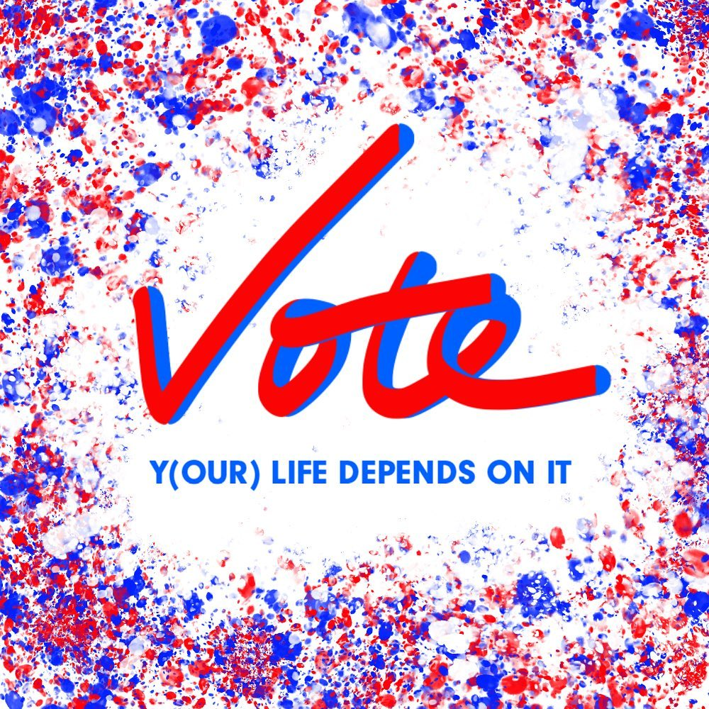 All that's been on my mind. Please vote for positive change, for a solution to Covid, for climate reform, for diversity, for equality, for science, for compassion, and for what's right. 🤞  Incidentally, this was my first time trying out Adobe Fresco on iPad and multi-color swatches and hand lettering. Amazing features.  @joebiden @kamalaharris @adobe