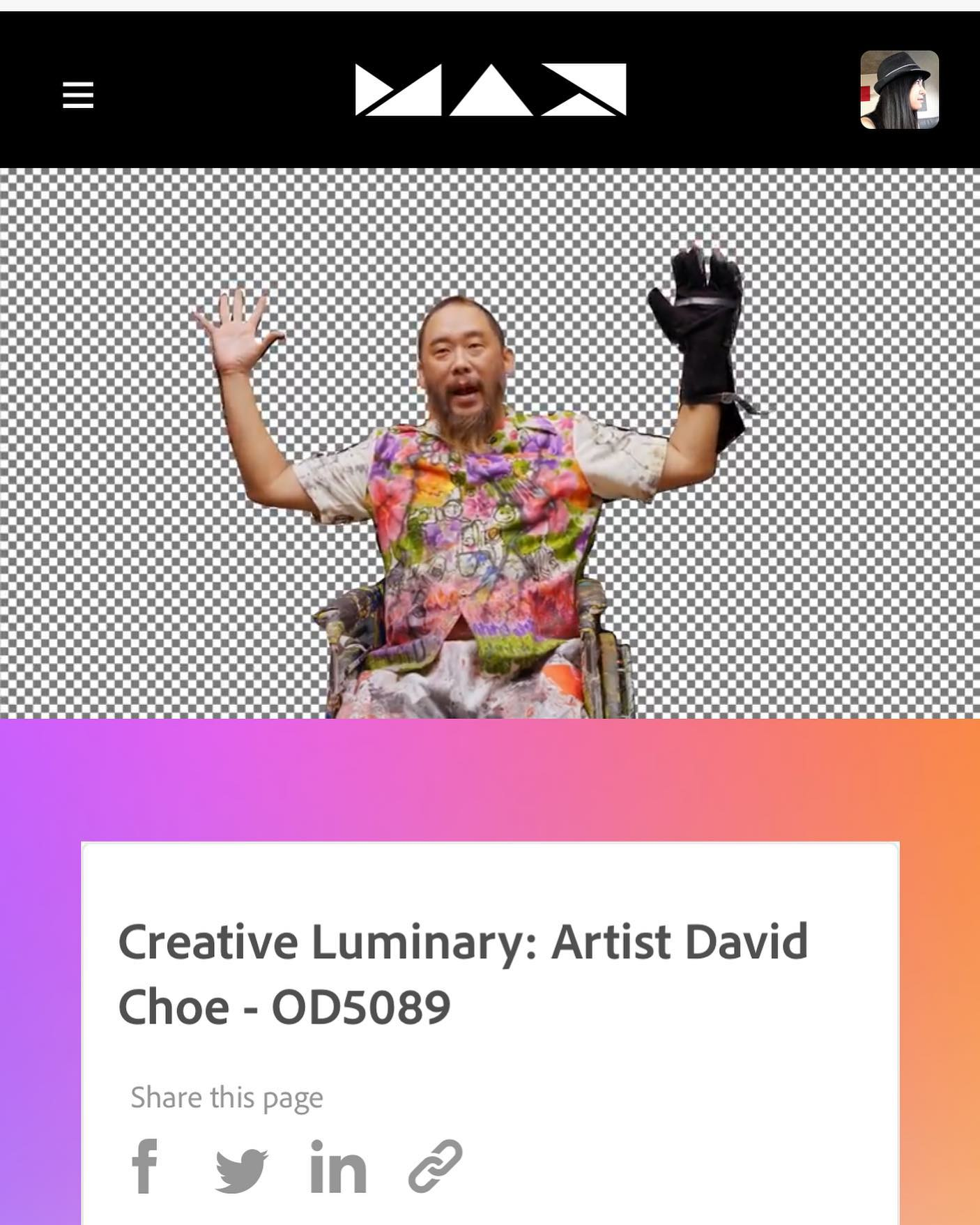 Let's just say it made my day to watch @davidchoe do his thing at on the website that our team designed! @photoshop @adobe @adobecreativecloud